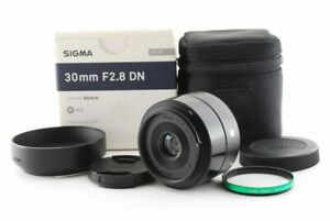 Sigma 30mm F/2.8 DN AF ASP ART Lens For Sony And w/Box Exc From Japan Tested #8