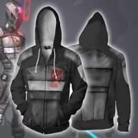 New Borderlands 3D Printed Men's Hoodies Hooded Zipper Jacket Sweater Sweatshirt