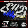 "UNIVERSAL 8PC 2.5"" ALUMINUM FMIC INTERCOOLER PIPING SILICONE HOSE+T-CLAMP SILVER"