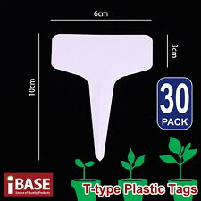 30x Plant Marker T-type Garden Labels Plastic Tags Nursey Seed 10x6 Cm Grey