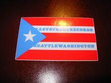 "Easy Street Records Seattle 3.5"" Cuban Flag Logo Sticker Decal pearl jam"