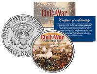 American Civil War BATTLE OF BULL RUN JFK Kennedy Half Dollar U.S. Coin
