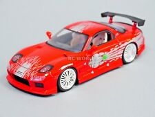 1/24 DieCast 1993 MAZDA RX7 TURBO Dom's  Fast & Furious Model Car RED