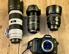 Canon 5d Mark iii  + 3 EF IS II L lenses  70-200 f/2.8, 24-70 f2.8, 85mm f1.2
