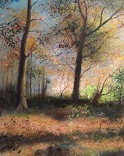 """NUOVO David Aldus ORIGINALE """"Black Forest Tamar Valley"""" Devon Paese dipinto ad olio"""