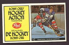 1972-73 Post Cereal Bobby Orr's Hockey Action Transfers # 5 Quinn &  Magnuson