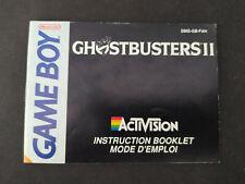 Notice Ghosbusters II 2 Nintendo GameBoy DMG-GB-FAH