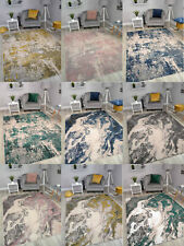Abstract Marble Effect Living Room Rugs In Modern Design Floor Carpets Mat Cheap