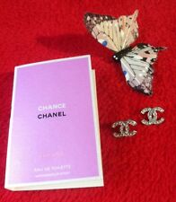 😍 NEW CC DOUBLE C FASHION EARRINGS & PARIS CHANEL CHANCE EAU VIVE EDT 2ml SPRAY