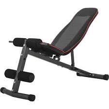 GORILLA SPORTS® Hantelbank Bauchtrainer Rückentrainer verstellbar schwarz