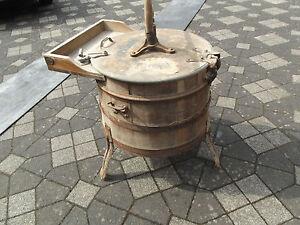Antike Miele Waschmaschine aus Holz No.29