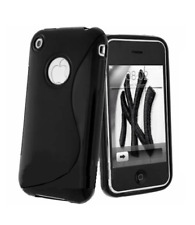Housse Etui Coque Silicone Gel Noir S ~ Apple iPhone 3G / iPhone 3GS