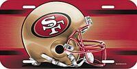 San Francisco 49 ers License Logo Plate Schild 30 cm,NFL Football,Neu