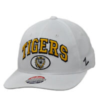 NCAA Zephyr Missouri Tigers White Curved Bill Hat Cap Headgear Snapback Sports