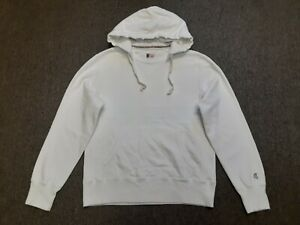 Todd Snyder x Champion Crewneck Hooded Hoodie Solid Sweatshirt Shirt White Small