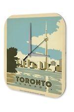 Wall Clock Globetrotter  Toronto Canada skyline river CN Tower World's Highest T