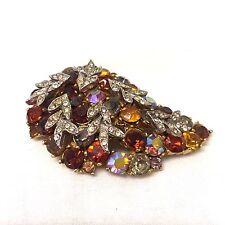 Vintage Jewellery Fabulous 1960's  Signed Sphinx Tiered  Rhinestone Brooch Pin