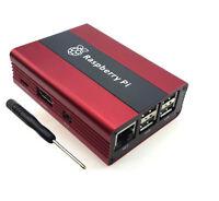 High Quality Aluminum Case Box Shell Enclosure for Raspberry pi 3 / 2B / B+ Red