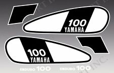 VINTAGE YAMAHA 75 1975 DT100 DT 100 DECAL GRAPHIC KIT w/ WHITE ENDURO 100 DECALS