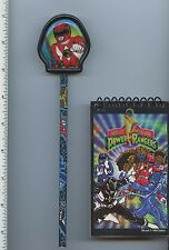 Mighty Morphin Power Rangers Red Ranger Pencil and Notepad Saban vintage 1990s