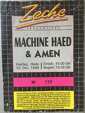 MACHINE HEAD 1999 HALLE   ORIGINAL CONCERT - KONZERT - Ticket
