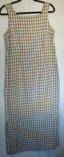 Access 100% Cotton Gingham Check Back Button Sleeveless Dress Size 12