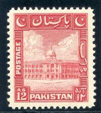 Pakistan 1948 KGVI 12a scarlet superb MNH. SG 37. Sc 37.
