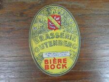 Vintage ETIQUETTE BEER BRASSERIE GUTENBERG BIERE BOCK LE PRE ST GERVAIS