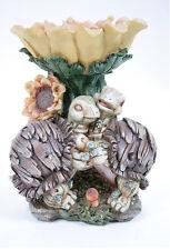 New listing Sunflower Turtle Bird Feeder/Tray Sculpture Garden Outdoor Patio Decor