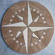 "Floor 32"" Marble TravertineTile Medallion Design Stone 32"" #23A"