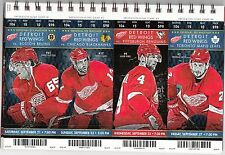 2013-14 DETROIT RED WINGS SEASON TICKET STUB PICK YOUR GAME DROPBOX DATSYUK
