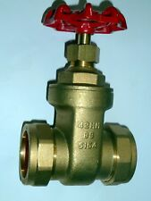 42mm Gate Valve | Brass Valve With Red Handle | CxC Compression