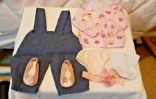 """Outfit for 18""""Our Generation Doll - Lovely Denim overalls & pink top + accessory"""