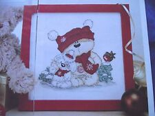 SWEET FIZZY MOON BEAR & FRIENDS CHRISTMAS PICTURE CROSS STITCH CHART