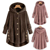 Fashion Women's Tops Loose Plus Size Coat Hooded Solid Pullover Sweater Blouse