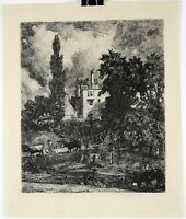 """The Romantic House"" John Park Etching after John Constable circa 1880s"