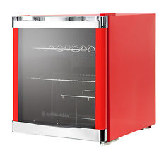 Russell Hobbs Glass Door Wine And Drink Cooler, 12 Bottle Capacity, Red, RHGWC1R