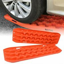 Car Non-Slip Mats Orange Traction Mat Tire Aid Fit to Off-Road Mud Sand Snow