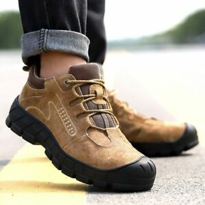 Men's Safety Shoes Puncture-Proof Outdoor Sneakers Steel Toe Safety Work