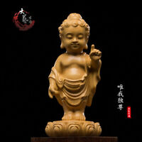 """Boxwood Wood Carving Hand-Carved """"Only me"""" Sculpture Collection Craft Statue"""