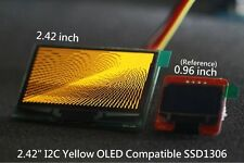 "I2C 2.42"" 128x64 Graphic OLED Yellow Display( Arduino / PIC / Multi-wii)"