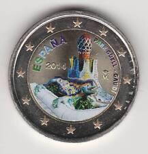 -- 2014AA  2 EURO C0ULEUR -- ESPAGNE -- PARK GOELL / GAUDI