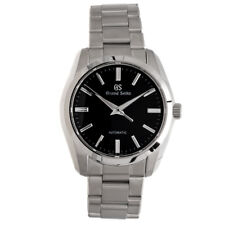 New Grand Seiko Automatic Black Dial Men's Stainless Steel Watch SBGR301