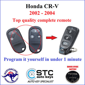 suits HONDA CR-V CRV COMPLETE CENTRAL LOCKING REMOTE FOB 2002 2003 2004 NO KEY