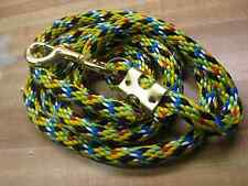 Horse Lead 7 1/2 Foot Rope  Brass Snap