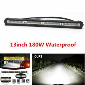 "1Pcs 34cm/13"" Car SUV Off Road 180W Spot Flood Combo Beam LED Work Light Bar"