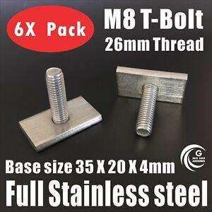 T Bolt 26mm tread Rhino Thule Yakima Pro Rola roof rack awning Accessories M8 X6