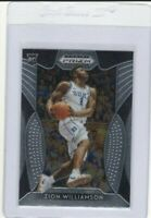 ZION WILLIAMSON 2019-20 PANINI PRIZM WHITE JERSEY ROOKIE RC #1 MINT & CENTERED