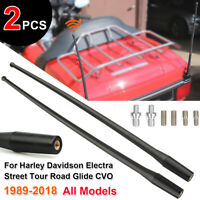 2*14'' Antenna Electra Glide Road King Tour Classic For Harley-Davidson 1989-18