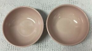 """Russel Wright Iroquois Casual China Cereal Bowls Set of 2 Pink 5"""" Mid Century"""